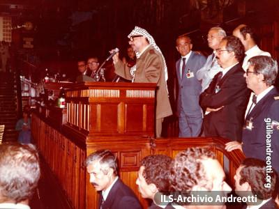 Settembre 1982. Arafat a Montecitorio