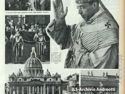 Pagina della Tribuna Illustrata dedicata alla elezione di Pio XII.