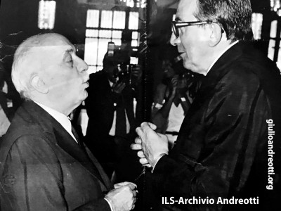 Giulio Andreotti e Amintore Fanfani