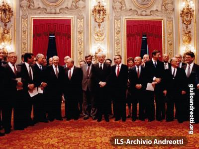 29 luglio 1987. Giuramento del governo Goria
