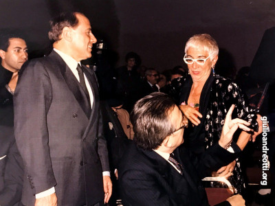Con Lina Wertmuller e Silvio Berlusconi