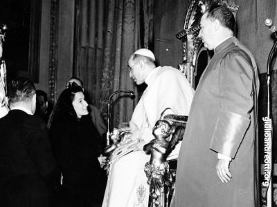1950. Livia Andreotti in udienza da Pio XII
