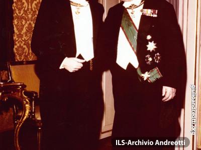 Il re di Svezia Gustavo VI in visita ufficiale a Roma nel 1967