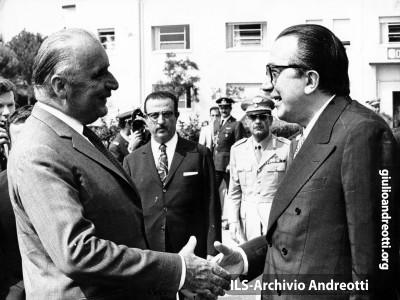 Pisa, 29 luglio 1972. Incontro Andreotti-Pompidou al vertice fra Italia e Francia