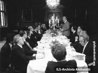Consiglio europeo di Brema del 6-7 luglio 1978. Cena di lavoro