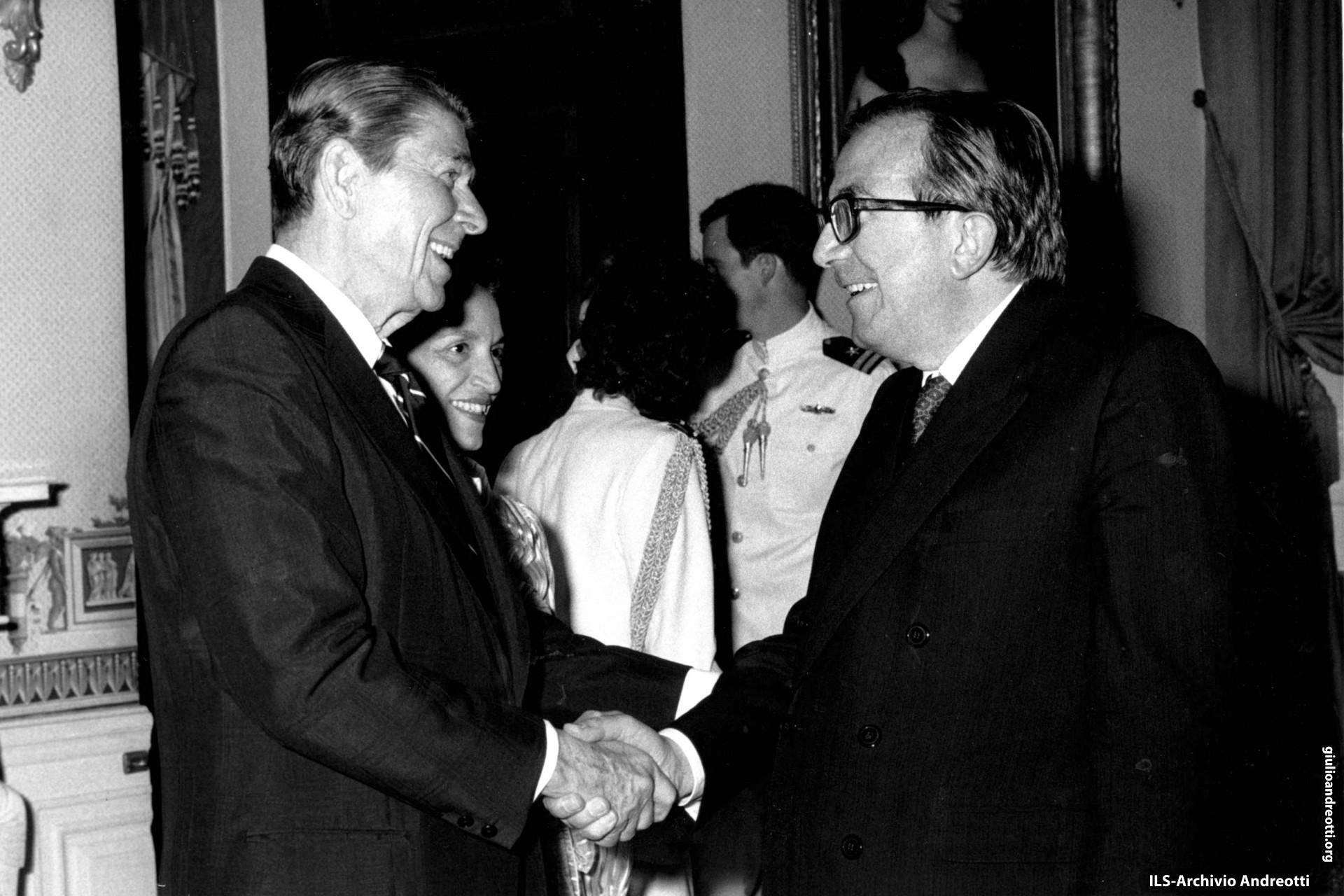 Aprile 1984. Incontro con Reagan in occasione del Consiglio atlantico di Washington