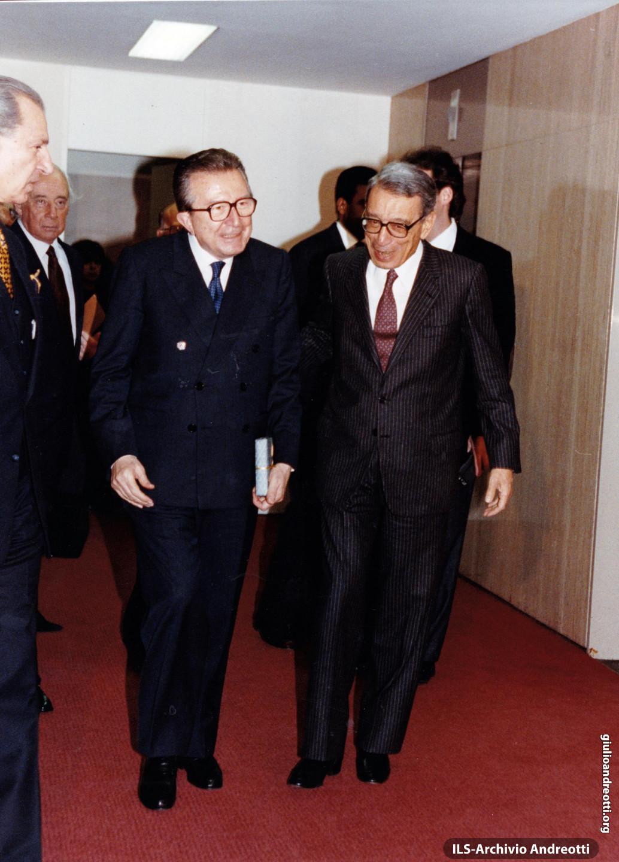 Incontro con il segretario generale dell'ONU, Boutros Ghali, a Roma nel 1993