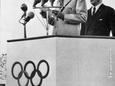 Olimpiadi di Roma, 25 agosto 1960. Il discorso di inaugurazione