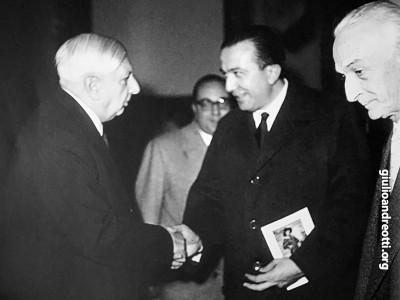 Con Giorgio De Chirico e Antonio Segni