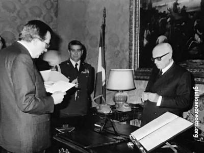 21 marzo 1979. Giuramento del quinto governo Andreotti