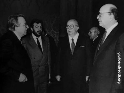 Con Giovanni Goria, Giovanni Spadolini e Bettino Craxi