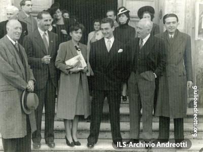 28 ottobre 1946. Nozze di Gambino-D'Inzillo, stretti amici di Andreotti.