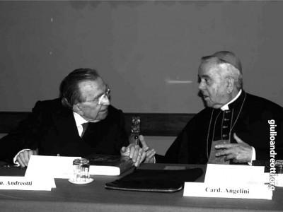 Con il cardinale Fiorenzo Angelini
