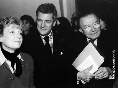 Con Dacia Maraini e Alain Elkann