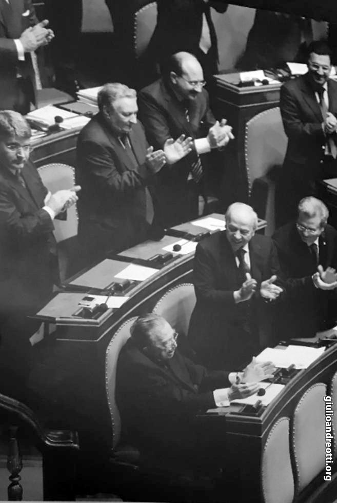 14 gennaio 2009. Andreotti festeggiato al Senato per i 90 anni