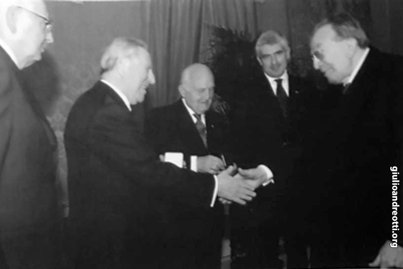 Con Giorgio Napolitano, Carlo Azeglio Ciampi, Oscar Luigi Scalfaro e Pier Ferdinando Casini