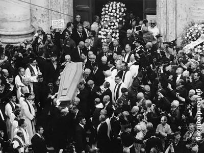 8 maggio 2013. I funerali di Andreotti nella basilica di San Giovanni dei Fiorentini