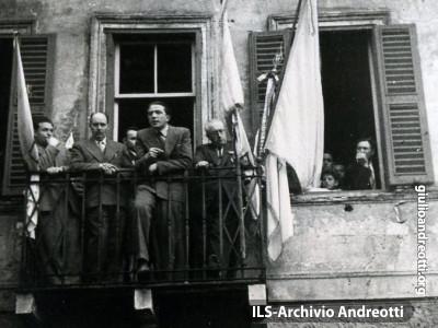 15 maggio 1947. Comizio di Andreotti a Carpineto.