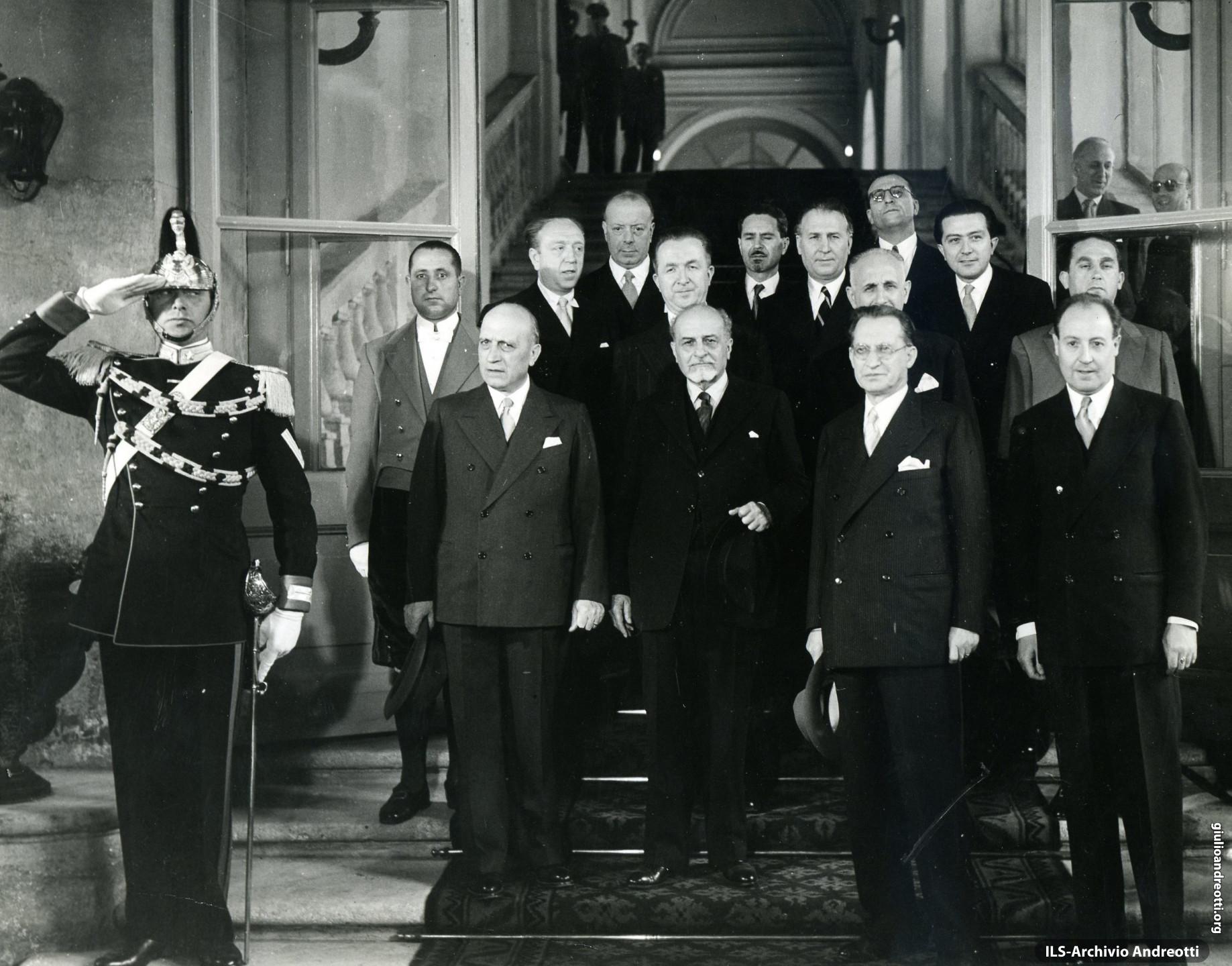 Maggio 1948. Presentazione al Quirinale del governo De Gasperi V.