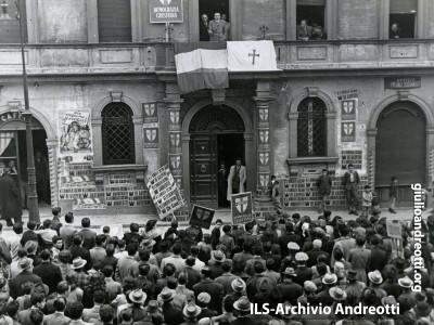 19 marzo 1948. Comizio a Bagnoregio.