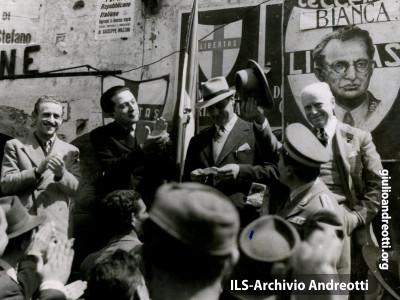 21 marzo 1948. Comizio ad Anagni.