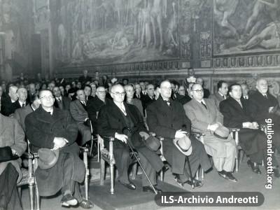 1948. Inaugurazione dell'anno accademico dell'Istituto studi romani.