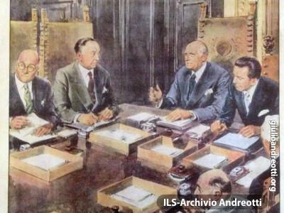 Era il 1951. Copertina della Domenica del Corriere.