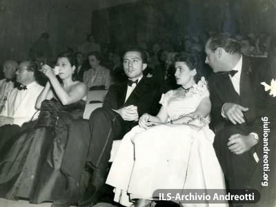 Alla mostra del cinema di Venezia con Livia e Anna Magnani.