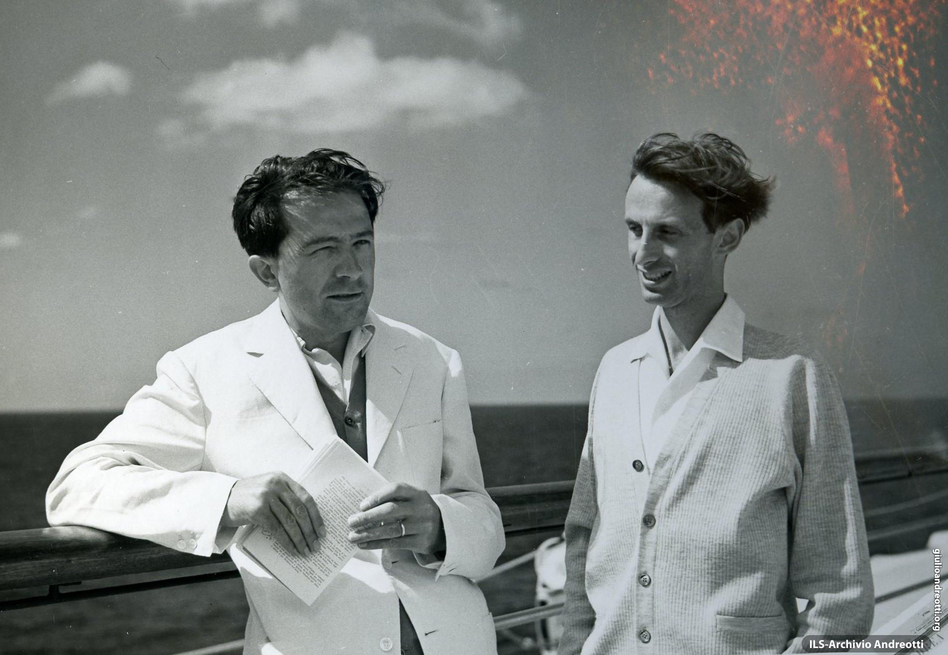 Agosto 1954. Viaggio in America a bordo della Cristoforo Colombo. Con Vincio Delleani.
