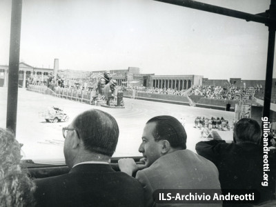 Sul set del film Ben Hur a Cinecittà nel 1959 (foto CEKAP)