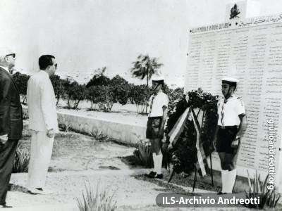 5 giugno 1962. Cerimonia in Libia in onore dei caduti.