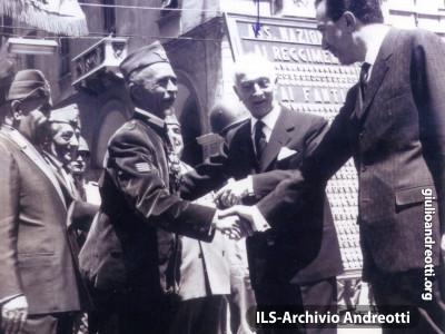 26 giugno 1963. Manifestazione con Andreotti e il Presidente Antonio Segni a Sassari.