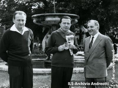 Andreotti in vacanza a Montecatini nel settembre 1963.