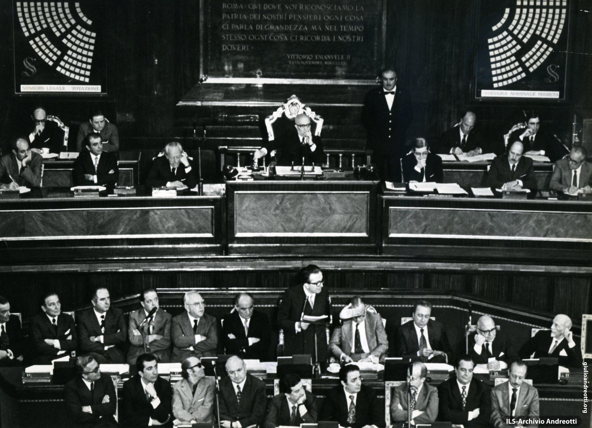 7 luglio 1972. Presentazione al Senato del Governo Andreotti II.