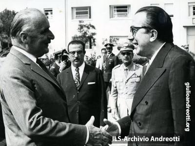 Ottobre 1972. Incontro di Giulio Andreotti con George Pompidou.