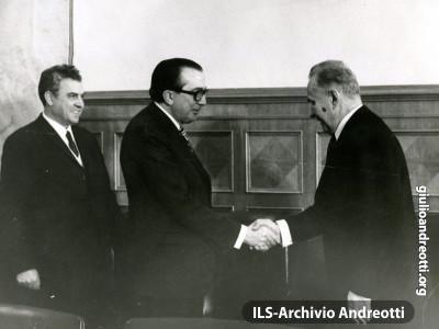 25 ottobre 1972. Colloqui con il presidente sovietico Kosigyn al Cremlino.