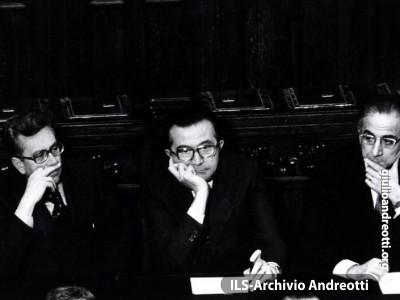 Andreotti in Parlamento nel 1972.