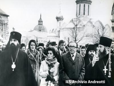 Andreotti durante la visita in URSS il 28 ottobre 1972.