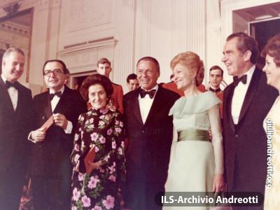 Visita di Andreotti in USA nell'aprile 1973.