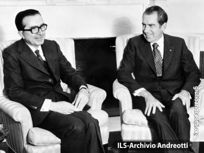 Andreotti con il presidente americano Richard Nixon.