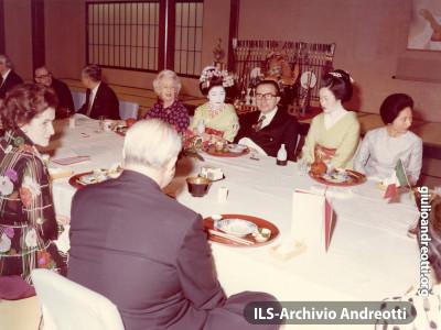 Visita di Andreotti in Giappone nel 1973.