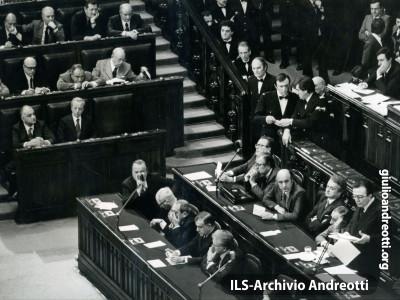 Presentazione del governo Andreotti IV alla Camera nel marzo 1978.