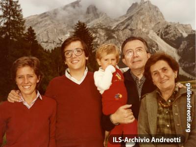 11 agosto 1981. Vacanze estive a Cortina.