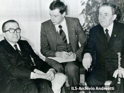 Stoccolma, 19 gennaio 1984. Giulio Andreotti incontra il ministro degli Esteri sovietico Andrei Gromyko.