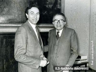 Incontro con Pippo Baudo il 26 marzo 1984.