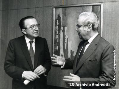 New York. Il 24 settembre 1985 Andreotti incontra Javier Perez de Cuellar.
