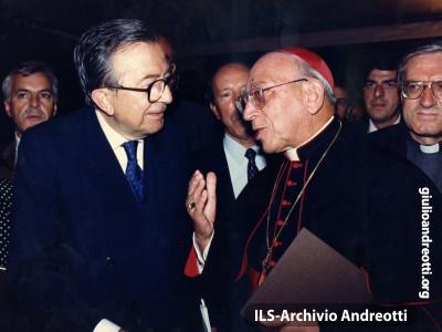 Andreotti con Agostino Casaroli.