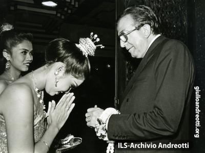 Andreotti in visita ufficiale in Pakistan nel 1986.