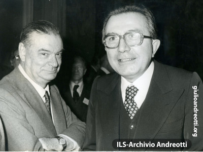 Andreotti con Giovanni Malagodi.