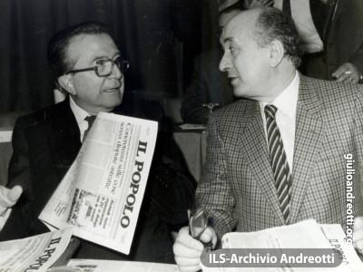 Giulio Andreotti con Ciriaco De Mita.